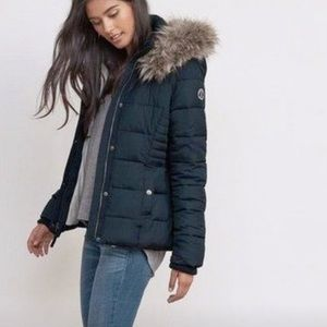Abercrombie & Fitch Navy Blue Puffer Jacket
